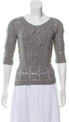 Oscar de la Renta Cashmere Crochet Sweater w/ Tags