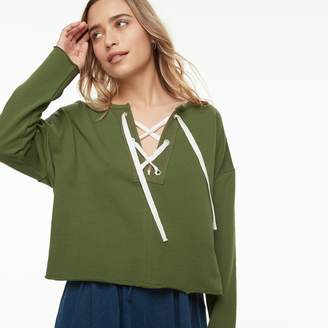 K Lab k/lab Lace-Up Sweatshirt