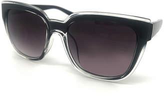 Fantas-Eyes Fantas Eyes Layered Look Full Frame Square UV Protection Sunglasses-Womens