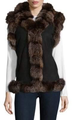 Dyed Fox Fur Vest