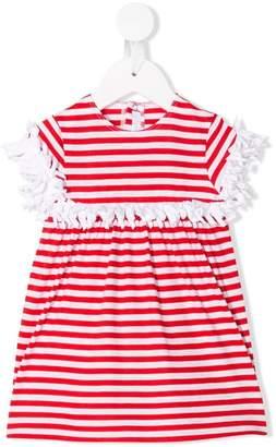 Il Gufo fringe details striped dress