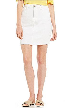 Buffalo David Bitton DIY Denim White Frayed Skirt