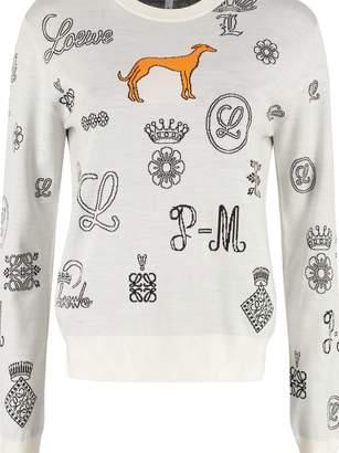 Loewe Jacquard Crew-neck Sweater