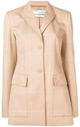 Off-White long check blazer