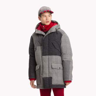 Tommy Hilfiger Patchwork Hooded Coat