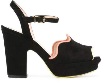 Fendi Frill heeled sandals