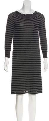 Louis Vuitton Knee-Length Striped Dress
