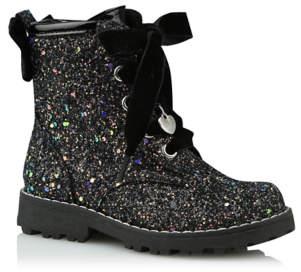 George Black Glitter Biker Boots