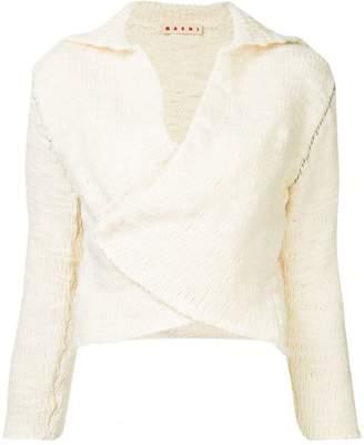 Marni stitched sleeve cardigan