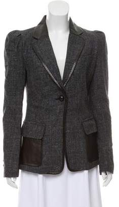 Robert Rodriguez Leather Accented Wool Blazer
