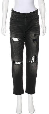 R13 High-Rise Distressed Jeans