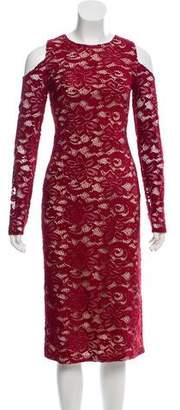 Alice + Olivia Lace Off-The-Shoulder Dress