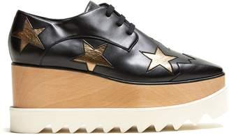 Stella McCartney Elyse lace-up faux-leather platform shoes