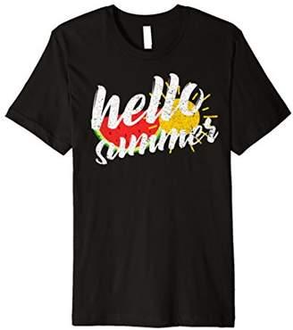 Hello Summer Shirt with Sun and Watermelon Fun