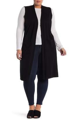 Catherine Malandrino Duster Sweater Vest (Plus Size)