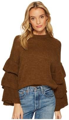 J.o.a. Ruffle Sleeve Sweater Women's Sweater