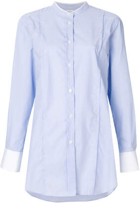 Filippa K Filippa-K striped band collar mid-length shirt