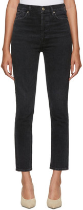 Gold Sign Black The High Rise Slim Jeans