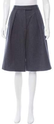 Dries Van Noten Wool Pleated Culottes