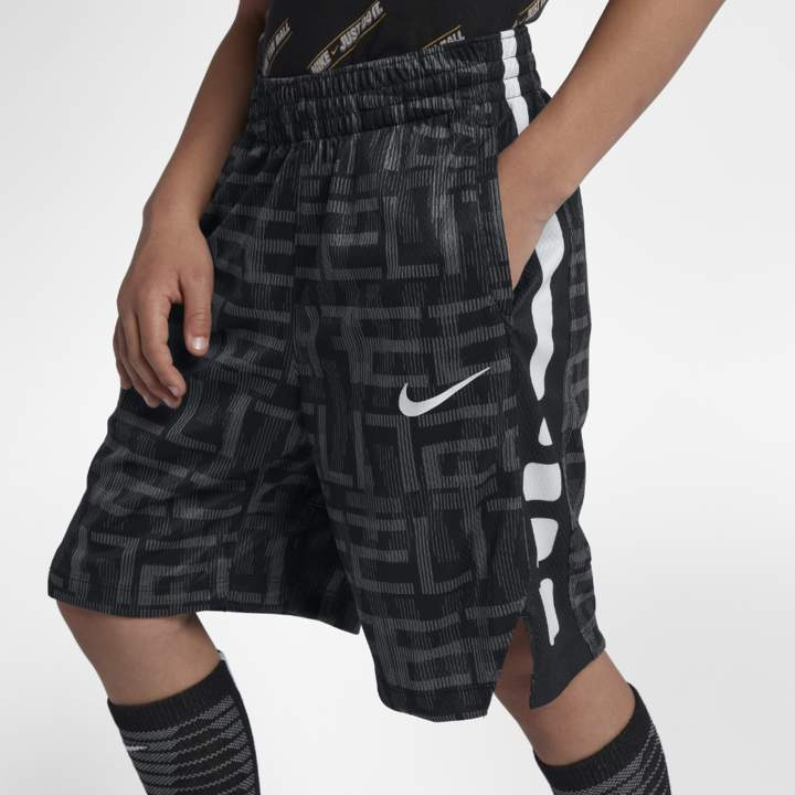 Elite Big Kids' (Boys') Printed Basketball Shorts Size XS (Black)