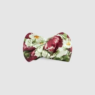 Gucci Silk headband with floral print