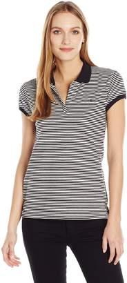 Calvin Klein Jeans Women's Stripe Pique Polo Shirt