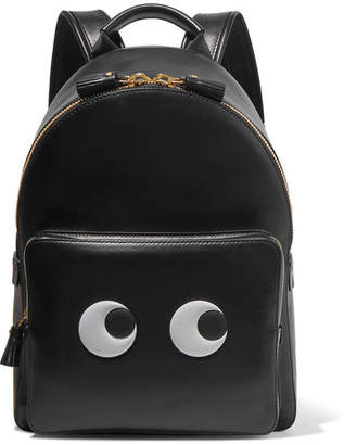 Anya Hindmarch Eyes Mini Leather Backpack - Black