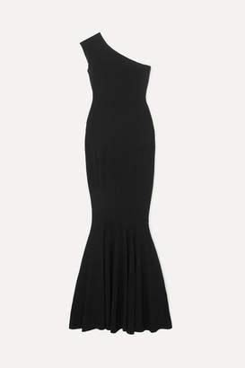 Norma Kamali One-shoulder Stretch-jersey Gown - Black