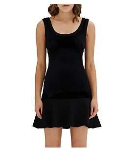 By Johnny Vantablack Velvet Flip Dress