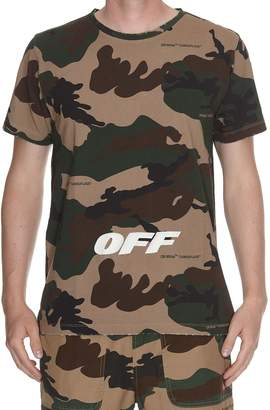 Off-White Off White Camouflage Slim Tee