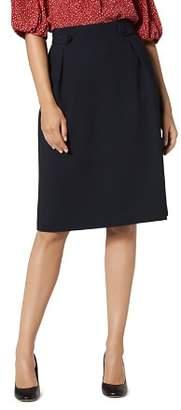LK Bennett L.K.Bennett Button-Tab Skirt