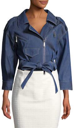 Carolina Herrera Crop Denim Jacket