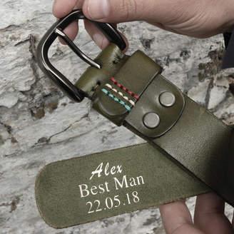 Studio Hop Personalised Men's Leather Belt