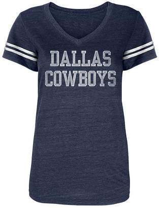 Authentic Nfl Apparel Women's Dallas Cowboys Worn Coaches T-Shirt