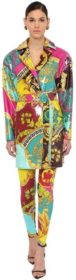 Versace COATED VISCOSE BLEND JACKET