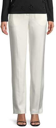 Escada Eve Straight-Leg Satin Pants