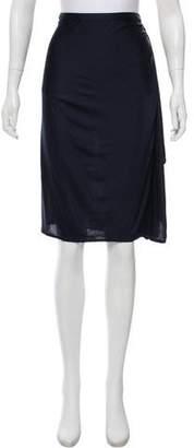Gianni Versace Draped Knee-Length Skirt