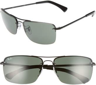 Ray-Ban 61mm Semi Rimless Navigator Sunglasses