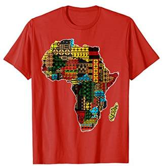 African Pride traditional ethnic pattern Africa map t-shirt