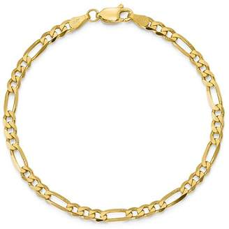 "Bloomingdale's 14K Yellow Gold 4mm Flat Figaro Chain Bracelet, 8"" - 100% Exclusive"