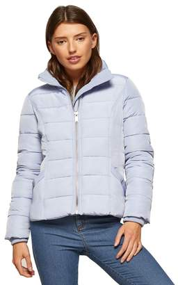 Miss Selfridge Blue Puffer Coat