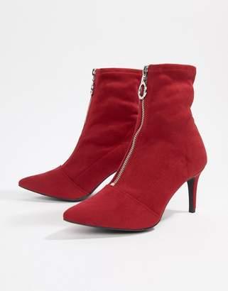 New Look Zip Front Kitten Heel Boot