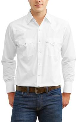 Plains Men's Long Sleeve Solid Western Shirt