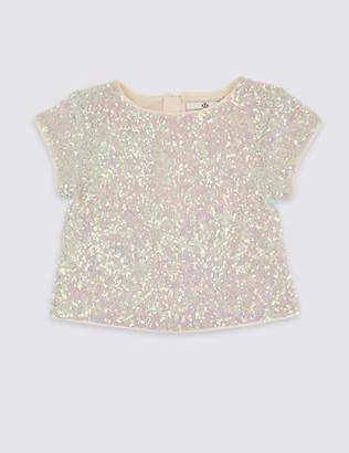 Marks and Spencer Sequin Top (3-16 Years)