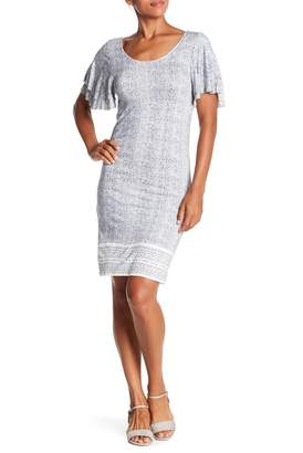 Lucky Brand Printed Ruffle Dress