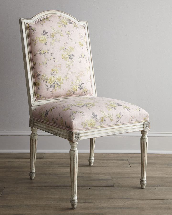 """Old Hickory Tannery Antique Rose"""" Side Chair"""