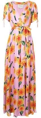Carolina Herrera Floral Print Tie Waist Dress
