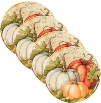 Certified International Autumn Fields Set Of 4 Dinner Plates