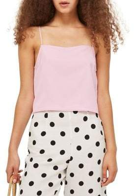Topshop Cropped Square Neck Cami Top