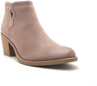 Qupid Womens Tobin 119 Booties Block Heel Zip